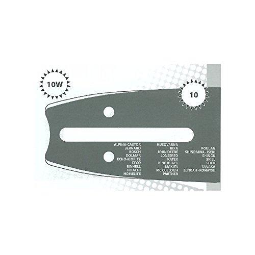 Guide tronçonneuse 35 CM adaptable MC CULLOCH 335 type 3/8LP 1.3mm 52 Maillons