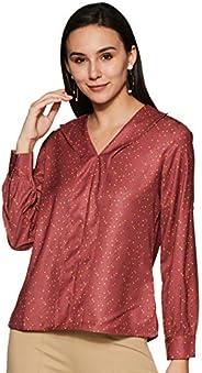 Amazon Brand - Symbol Women's Polka dot Regular fit S