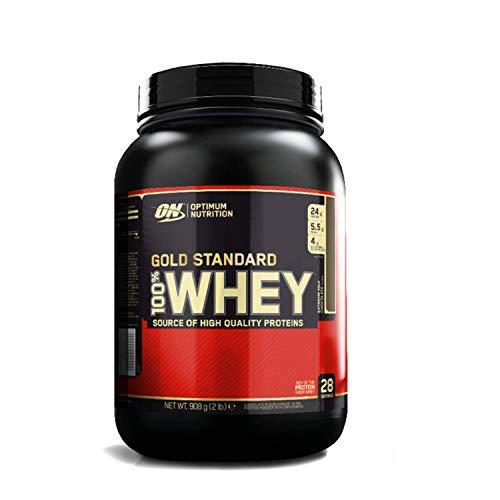 Optimum nutrition 100% whey gold standard, proteine in polvere per lo sviluppo muscolare con glutammina e aminoacidi, cioccolato al latte, 0.9 kg, 28 porzioni