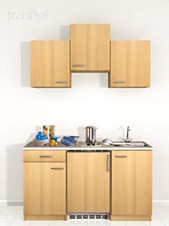 Single cucina pantry cucina ufficio lavello cucina piastre blocco cucina 150 cm in faggio - Blocco lavello cucina ...