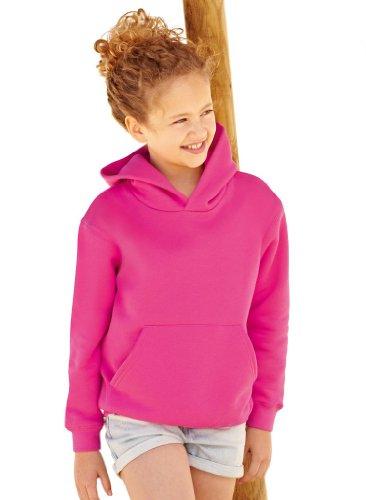 Fruit of the Loom - Classic Kinder Kapuzen-Sweatshirt 'Kids Hooded Sweat' 140,Fuchsia