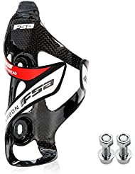 Maketheone Portabidón de ciclismo bicicleta de la botella de agua jaulas fibra de carbono ultraligero 26g color Negro / logo