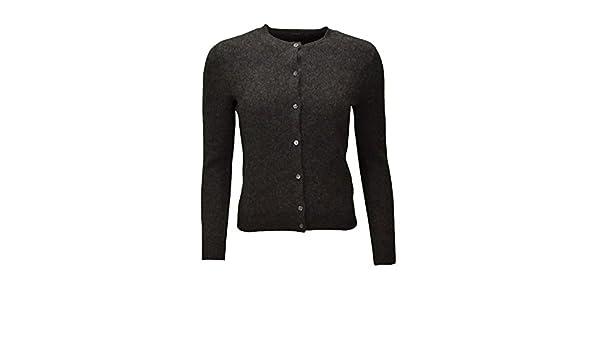 Ralph Lauren Gilet col Rond Delphine Gris pour Femme  Amazon.fr  Vêtements  et accessoires 719071b13716