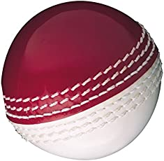 GM Skill Poly Tennis Cricket Ball Soft (White/Red)