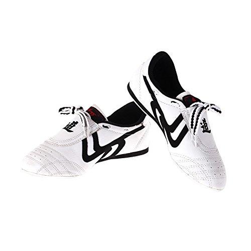 Atmungsaktive Taekwondo Schuhe für Erwachsene Bequeme rutschfeste Taekwondo Sportschuhe ( Abmessung : 42 ) - Weiß Schuhe Boxing