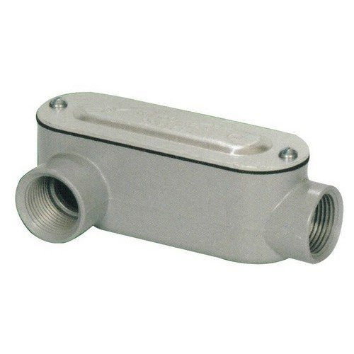 Morris 14091 Rigid Conduit Body, Aluminum, Type LR, Threaded with Cover and Gasket, 3/4 Thread Size by Morris -