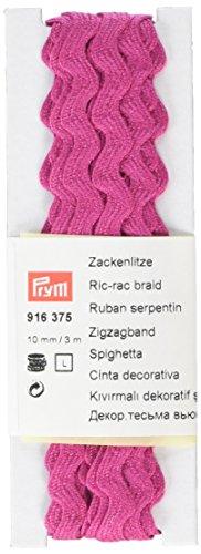 Prym RIC-rac Geflecht, 100% Baumwolle, Rosa, 10mm, 3m -