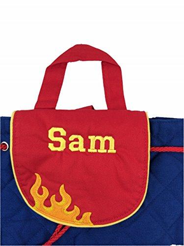 Sac à dos à motif de camion de pompier- personnalisable Excellent cadeau pour la rentrée scolaire ou la crèche.