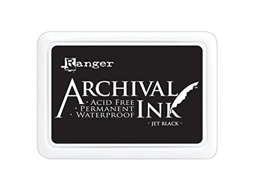 Ranger A3P06701 Jumbo Archival Pad, Synthetic Material, schwarz, 17.1 x 12.7 x 1.9 cm (Black Pad Ink)