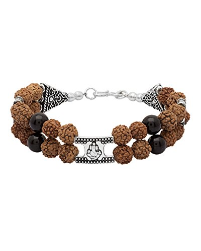 Voylla Ganesh In Oxidised Silver With Rudraksh Beaded Bracelet  available at amazon for Rs.249