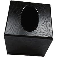 MagiDeal Kosmetikbox für Kosmetiktuch - eine Taschentuchbox aus Holz - Tücherbox für Kosmetiktücher Box - Schwarzes Quadrat, 13x13x13cm