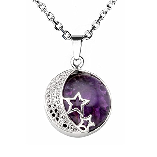 jovivi-pendentif-diy-lune-etoile-pierre-naturelle-amethyste-quartz-violet-chaine-acier-inoxydable
