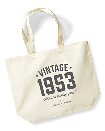 65th Birthday 1953 Keepsake Funny Gift Gifts For Women Novelty Ladies Female Looking Good Shopping Bag