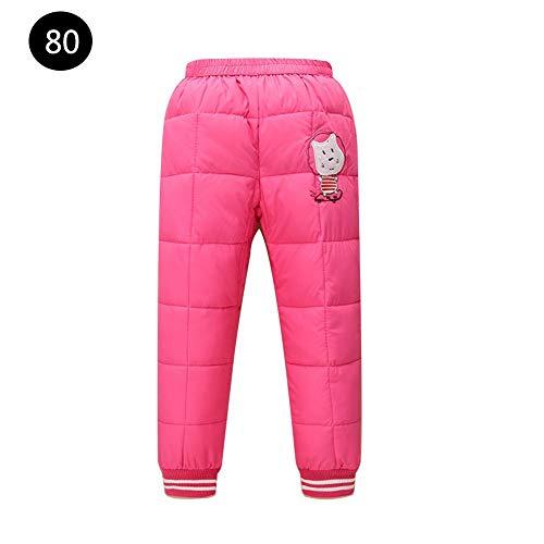 DRAULIC Jungen und Mädchen tragen warme, reine, dicke, offene Baumwollhosen für Kinder. Kinder-Daunenhosen