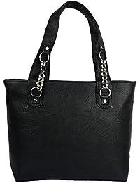 Sati Fashion Women's PU Handbag, Black