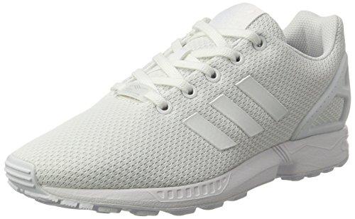 adidas ZX Flux J, Unisex-Kinder Gymnastikschuhe, Elfenbein (Ftwr White/Ftwr White/Ftwr White), 39 1/3 EU