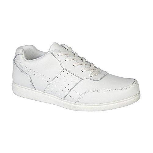 Dek Herren Strike Beschichtetes Leder Bowling Schuhe (42 EU) (Weiß) (Bowling-leder-bowling-schuhe)