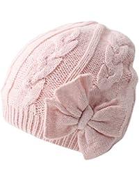 DAY8 Bonnet Bébé Fille Hiver Chaud Bowknot Enfants Fille Chapeaux Tricotés Bonnet  Bébé Fille Unisexe Garçon 039fc95b7c8