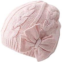 DAY8 Bonnet Bébé Fille Hiver Chaud Bowknot Enfants Fille Chapeaux Tricotés Bonnet  Bébé Fille Unisexe Garçon 16dbeaba8fa
