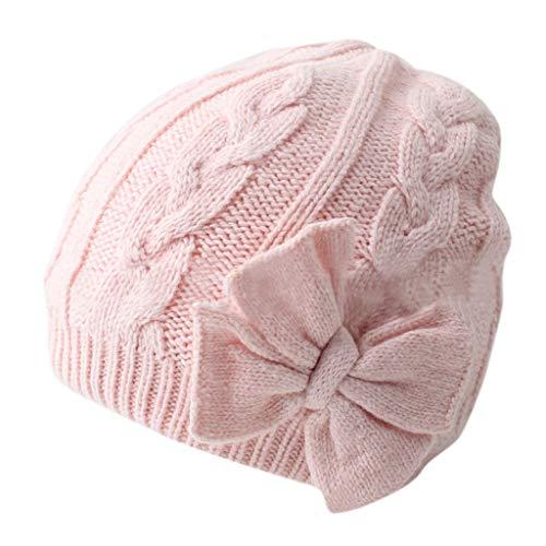 Mitlfuny Unisex Baby Kinder Jungen Zubehör Säuglingspflege,Winter warme gestrickte Babymütze für Mädchen Baumwolle gefüttert Säuglingskleinkind Mädchen Hut