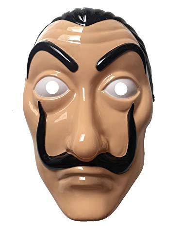 shoperama Dali Plastik Maske Haus des Geldes La Casa De Papel Salvador Halloween ()