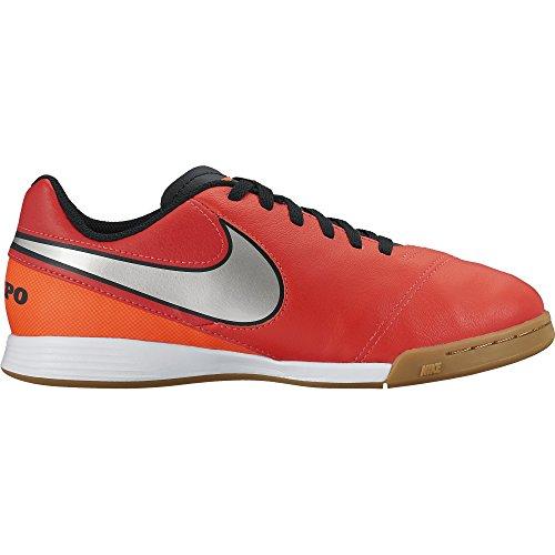 Nike Jungen Jr Tiempo Legend VI IC Fußballschuhe, Orange, Versilbert, Rot (Lt Crmsn/Mtllc Slvr-Ttl Crmsn), 37 1/2 EU (Kid Nike Indoor-fußball-schuhe)