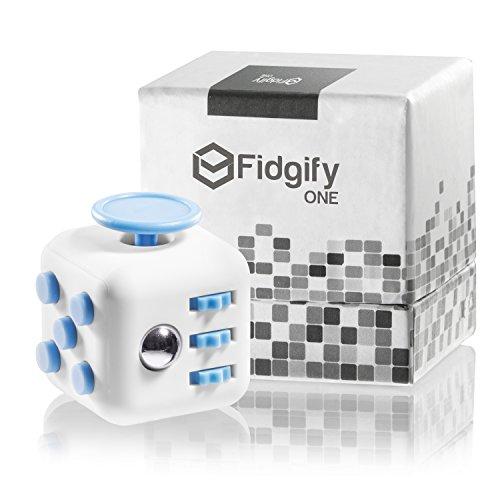 Preisvergleich Produktbild Premium Fidget Cube inklusive hochwertiger Geschenkverpackung & E-Book - Top Qualität! Fidgify ONE der originale Anti Stresswürfel für den Alltag