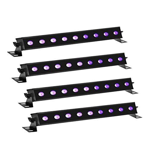 4 * 27W Schwarzlicht,XGZ UV LED Bar mit Fernbedienung,Violet Licht Lichteffekt Bühnenbeleuchtung mit Schalter,Geeignet Weihnachten Halloween Club Party Disco