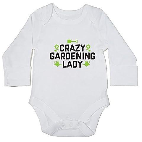 hippowarehouse Crazy Jardinage Lady Body bébé () à manches longues pour garçons filles - blanc - 6 mois