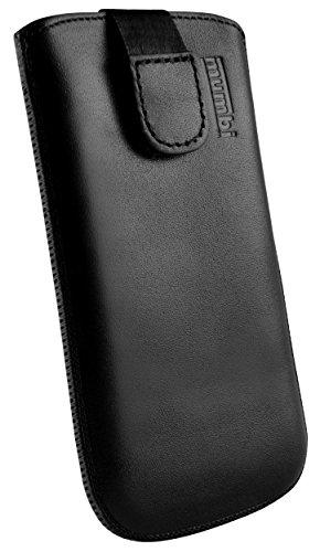 mumbi ECHT Ledertasche für Samsung Galaxy S6 Edge Tasche Leder Etui (Lasche mit Rückzugfunktion Ausziehhilfe)