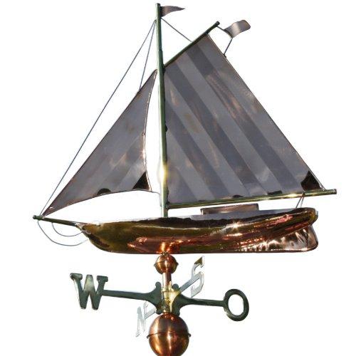 Wetterfahne großes Segelschiff (Segelboot Wetterfahne)
