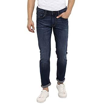 Red Tape Men's Slim Fit Jeans (RTD6964-32_Mid Blue)