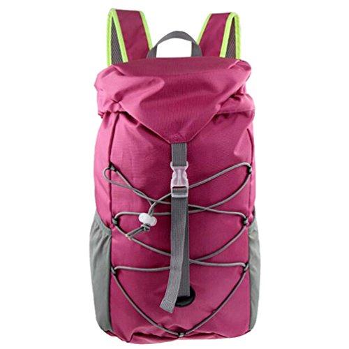 Sport all' aperto Borsa Borsa equitazione alpinismo zaino Zaino e equitazione pacchetto fibbia corda e garza design.Dimensioni: 43*29*26cm., Uomo, Green Pink
