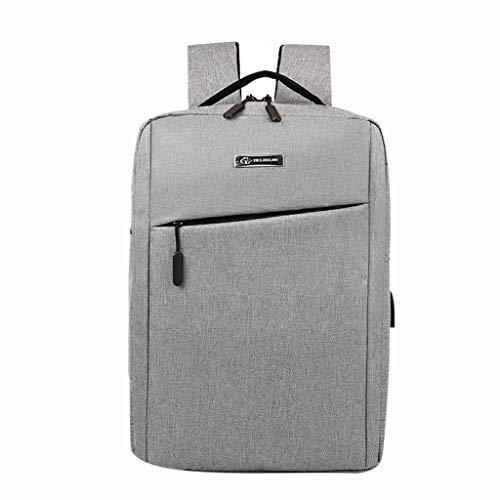 VECOLE Rucksäcke Damen Herren 2019 Neuer USB-Schnittstelle Einfacher, einfarbiger Business-Laptop-Rucksack Reiserucksack Outdoor-Shopping Reiserucksack(Grau)