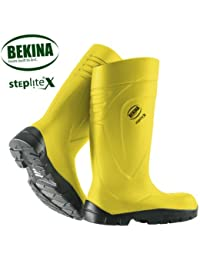 BEKINA-PU - botas de step Lite X amarillo S5, con puntera metálica y metálica