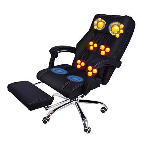 Massage Bürostuhl Full Body Relaxation Einstellbare Klapp Executive Computer Schreibtisch und Stuhl Unterstützung 661 Pfund für Home Office -