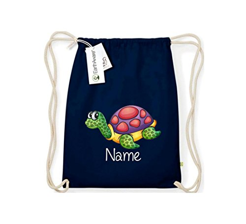 stown-t-shirt-organic-gymsac-with-cute-designs-turtle-with-choice-of-name-blue