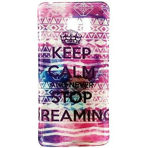 mantener la calma y dejar de reamin brillo del polvo TPU + IMD cubierta para Samsung Galaxy Note5
