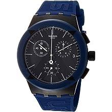 Swatch Mens Chronograph Quartz Watch with Silicone Strap SUSB418