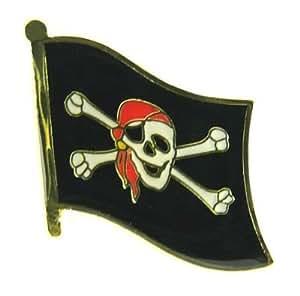 Flaggen Pin Pirat mit Kopftuch Pins Anstecknadel Fahne Flagge FLAGGENMAE®