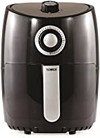 Tower T17023 Air Fryer with 30 Minute Timer, 1000 W, 2.L - Black, 2.Litre
