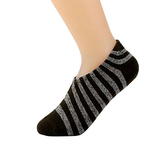 Haodasi 3 Paare Klassisch Streifen Absorbierend Socken Baumwolle Sport/Arbeit