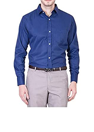 692820c1811 AKAAS Cotton Blend Full Sleeve Men s Formal-Shirt Navy Blue  Amazon ...