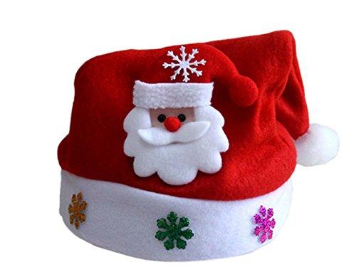 Erwachsene Hut Newsboy (Moolecole Unisex Vater Weihnachtsmützen Weihnachten Sankt-Partei-Hüte Geschenk für Kind)