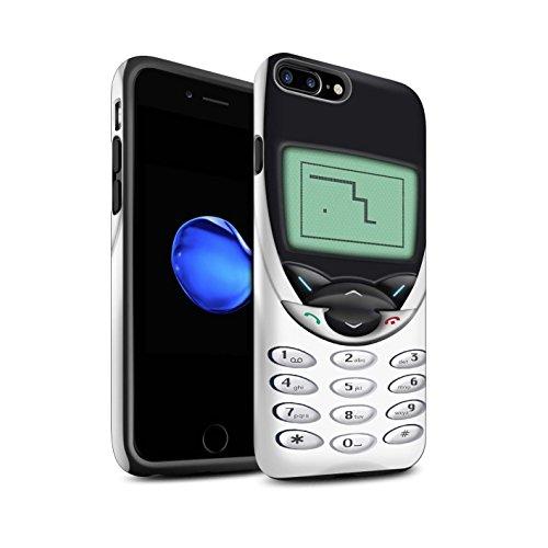 STUFF4 Matte Harten Stoßfest Hülle / Case für Apple iPhone 8 / Schwarzes Nokia 8210 Muster / Vintage Handys Kollektion Weißes Nokia 8210