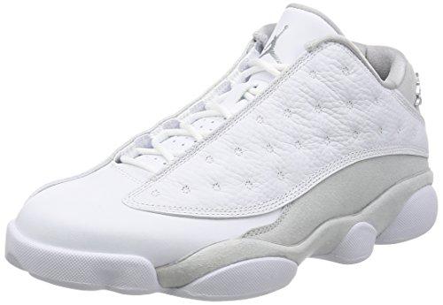 Nike Air Jordan 13 Low Pure Money Schuhe aus einfarbigem Weißem Leder 310810-100 -