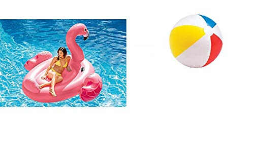 Bavaria Home Style Collection Flamingo - Reittier - Pool-Insel - Insel Badeinsel, riesen groß - Material: PVC, der Coole Badespass im Pool oder am See der ultimative Badespaß