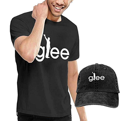 AOCCK Herren Kurzarmshirt Glee Men's Short Sleeve T Shirt & Washed Adjustable Baseball Cap Hat (360-reiniger Xbox)