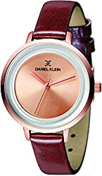 Daniel Klein Analog Gold Dial Womens Watch-DK11374-2