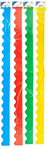 Border Set Scalloped 4/Pk Red Yellow Green Blue by Carson-Dellosa
